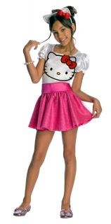 Hello Kitty Girls Kids Halloween Costume Cute Birthday Party Dress Up