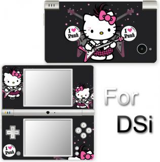 Hello Kitty Punk Cute Skin Decal Vinyl Sticker Cover for Nintendo DSi