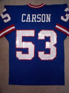 Ness M N New York Giants Harry Carson NFL Throwback Jersey L 44