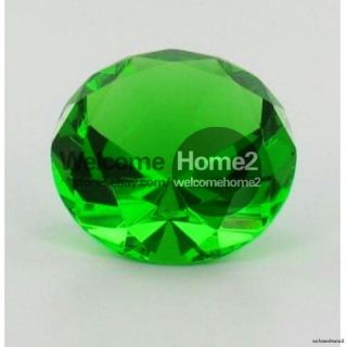 Green 4 Glass Crystal Diamond Shaped Paperweight