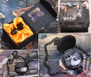 Cool Harry Potter Magic Cosplay Black Metal Pocket Watch New in Box