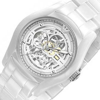 emporio armani automatic ceramica mens watch white ceramic bracelet