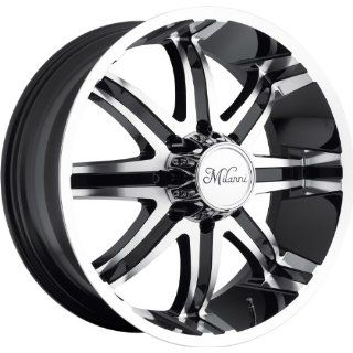 Milanni Kool Whip 8 20 Machined Black Wheel / Rim 8x6.5 with a 18mm