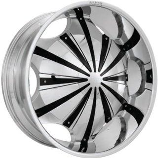 Starr Slash 28 Chrome Wheel / Rim 5x115 & 5x120 with a 15mm Offset and