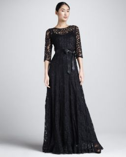 Nicole Miller Lace Overlay Gown