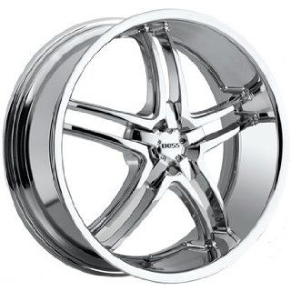 Boss 340 20x8.5 Chrome Wheel / Rim 5x4.5 with a 14mm Offset and a 82