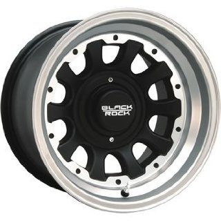 Black Rock Type D Alloy 15x10 Machined Black Wheel / Rim 6x5.5 with a