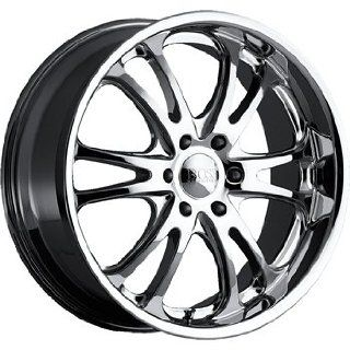 Boss 313 24 Chrome Wheel / Rim 6x5.5 with a 40mm Offset and a 108.20