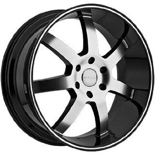 Menzari Absolute 24x9 Black Wheel / Rim 6x5.5 with a 25mm Offset and a