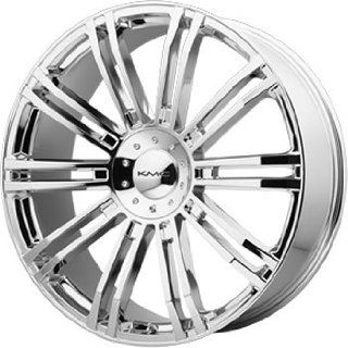KMC KM677 22x9.5 Chrome Wheel / Rim 5x4.5 & 5x120 with a