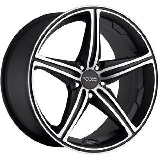 Foose Speed 19x8.5 Black Wheel / Rim 5x112 with a 34mm Offset and a 66
