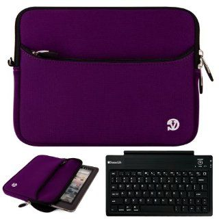 Purple VG Neoprene Sleeve Cover for Visual Land Prestige 10 Android 10