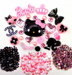 USA    DIY Hello Kitty Bling Phone Case Flatback Cabochons Kawaii Deco
