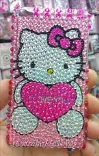 New Cartoon Hello Kitty Rhinestone Bling Back Cover Case for iPod