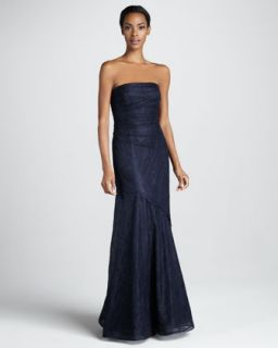 Rickie Freeman for Teri Jon Strapless Lace Gown