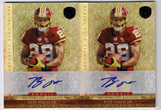 Roy Helu Jr 2011 Panini Gold Standard Rookie Auto Lot 2 499 Redskins