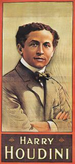 MAGIC HARRY HOUDINI GREATEST MAGICIAN PORTRAIT VINTAGE POSTER REPRO 8