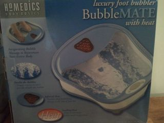 Homedics Body Basics Bubblemate Luxury Foot Bubble Massager with Heat