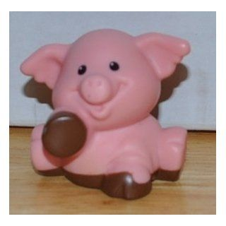 Little People Pink Pig Piggy Piglet with Mud on Paws 2001