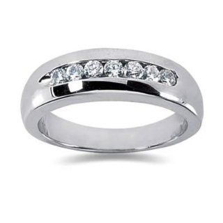 35 ctw Mens Diamond Ring in 14K White Gold Jewelry