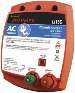 Zareba LI15C Red SnapR Low Impedance Electric Fence Charger
