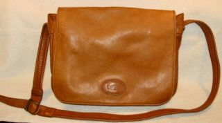 Leather Shopper Purse Hobo Cross Body Handbag Nicely Worn In