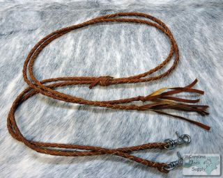 Leather Braided Western Split Reins New Horse Tack
