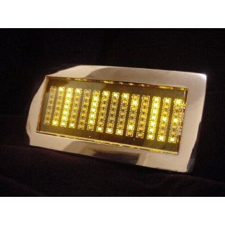 Yellow Mini LED programmable belt buckle, L_38 40, Hot Pink Clothing