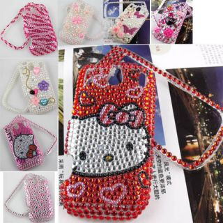 Bling red Hello Kitty Flower Crystal Diamond case for Palm PIXI