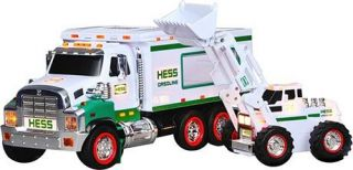 the 2008 hess toy truck and front end loader is a tough two in one toy