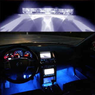 White 5 LED Motorcycle Car Boat Home ATV Pod Ultra Bright Accent Light