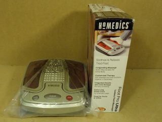 Homedics Foot Massager 15in x 12in x 4in White Red Pro Ultra Luxury AK