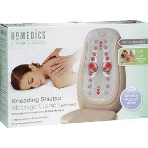 New Homedics Kneading Shiatsu Massage Cushion with Heat