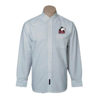 Northern Illinois Mens White Oxford Long Sleeve Shirt