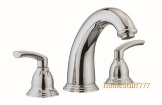 Widespread w Separate Hot Cold Handle Lavatory Faucet Brass Body