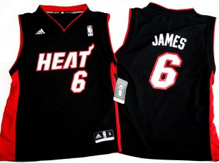 Miami Heat Lebron James Kids Youth Jersey 4T Teenager