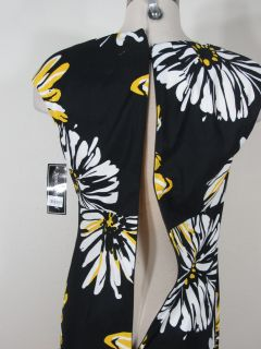 Jessica Howard Yellow Combo Printed Dress Sz 8 M Medium