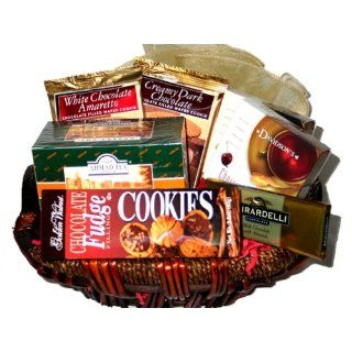 Afternoon Tea Break Gourmet Gift Basket & Personalized Greeting Card