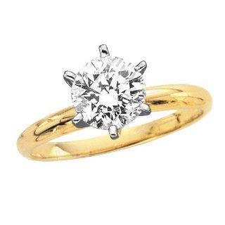 ct. J   SI1 Round Brilliant Cut Diamond Solitaire Engagement Ring