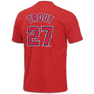 Majestic MLB Name and Number T Shirt   Mens   Mike Trout   Anaheim