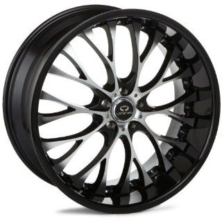 LORENZO WL027 Series Gloss Black With Chrome Lip Wheel (20x10/5x115mm