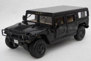 New Hummer H1 4DOOR Wagon 1 24 Alloy Diecast Model Car Black B1736