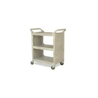 Rubbermaid Platinum Light Duty Utility Cart with Enclosed