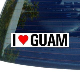 Love Heart GUAM   Window Bumper Sticker    Automotive