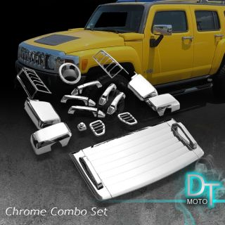 05 10 Hummer H3 26pcs Full Chrome Trim Cover Set Door Handle Hood Vent