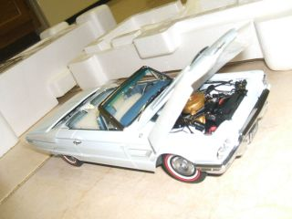 Rare Light Blue 1965 Thunderbird Convertible Franklin Mint 1 24 Die