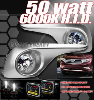 replacement fog lights with 50w 6000k hid conversion kit chrome