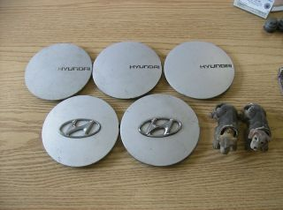 Lot of Hyundai Scoupe Alloy Wheel Center Caps Hubcaps