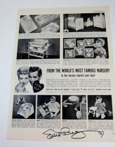 Love Lucy Orig 1950s Ad Desilu Nursery Furniture Baby Lucille