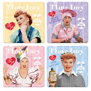 Love Lucy Lucille Ball Collectible 4 Coaster Set